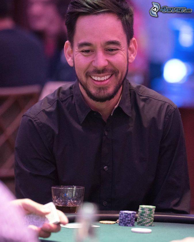 Mike Shinoda, skratt, poker