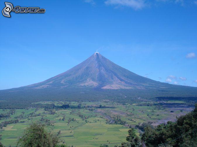Mount Mayon, Filippinerna, skogar och ängar