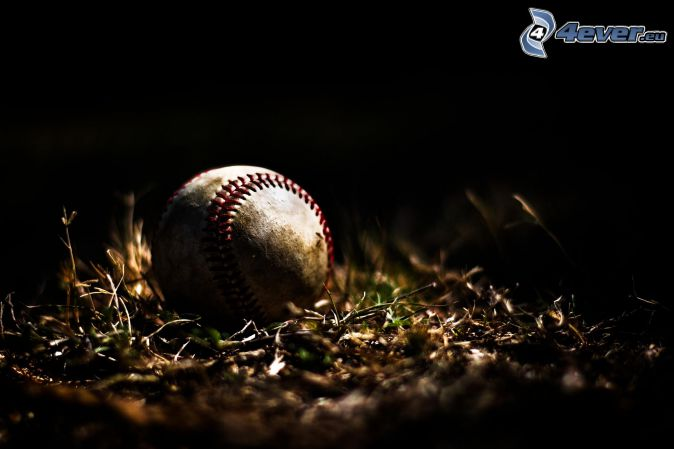 baseball, gräs