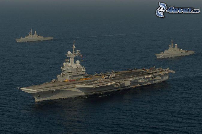 R91 Charles de Gaulle, hangarfartyg, hav