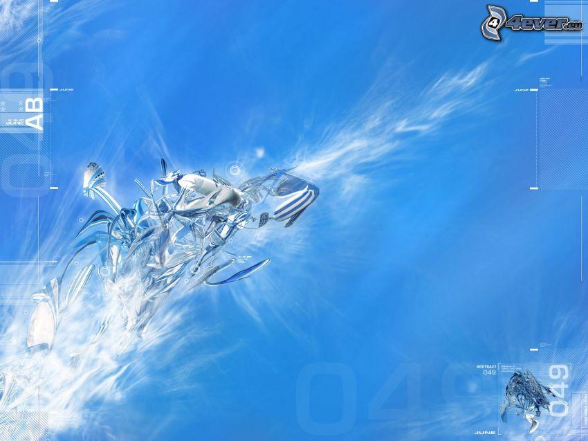 abstrakt, blå himmel, blå bakgrund
