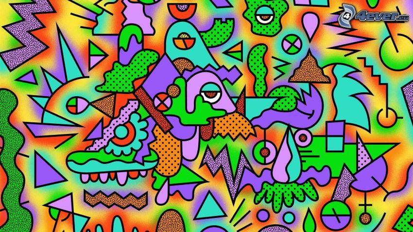 abstrakt, färger