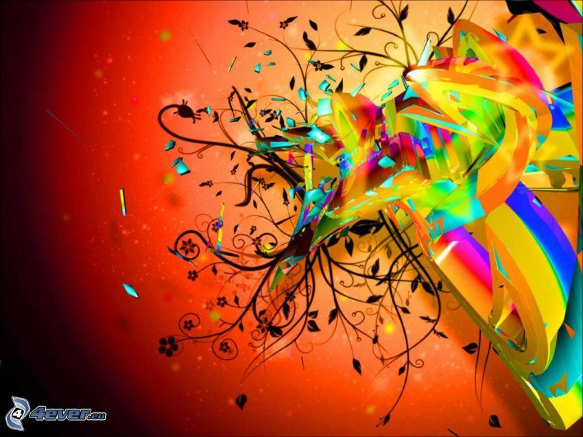 abstrakt, färgstark bakgrund