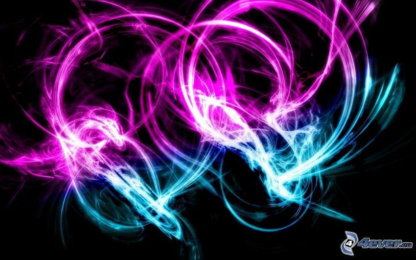 abstrakt, neon