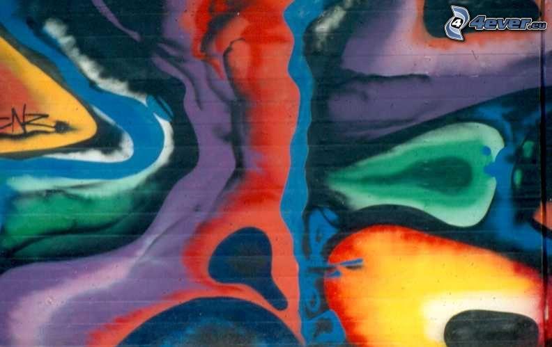 abstrakt, optisk illusion, tecknat