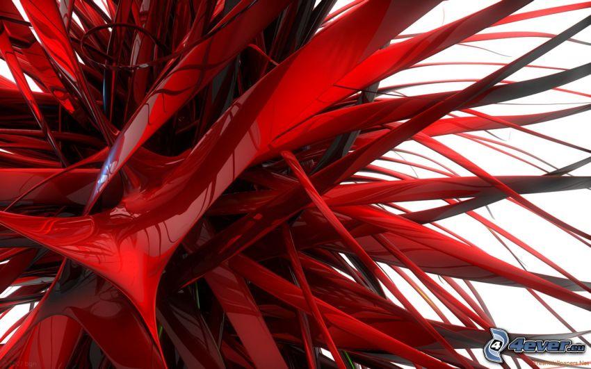 abstrakt, röd färg
