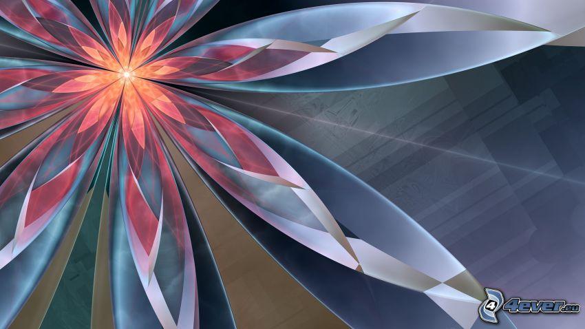 abstrakt blomma