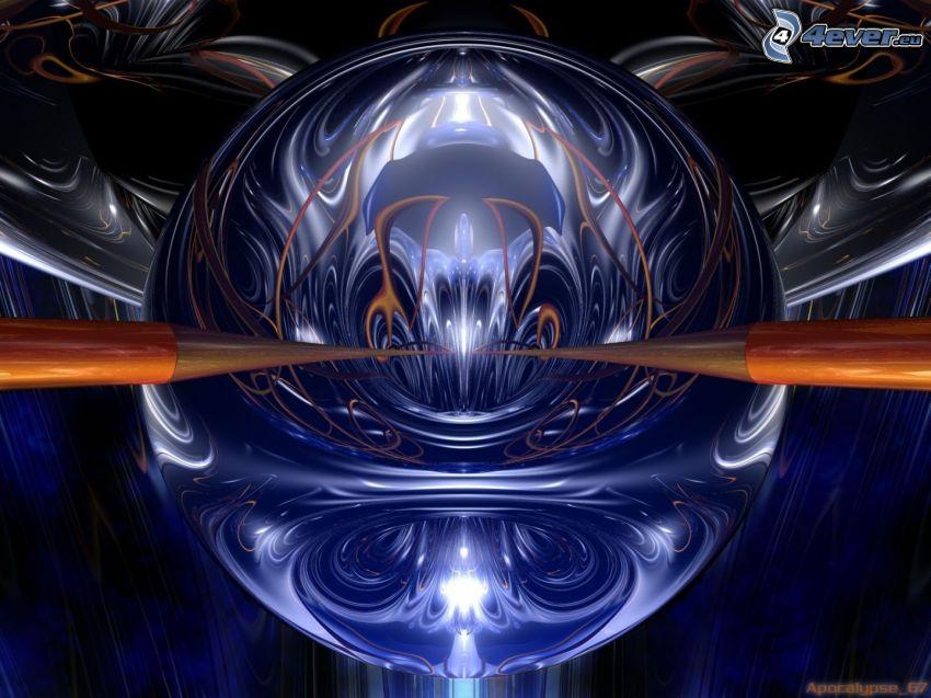 abstrakt klot, spegling