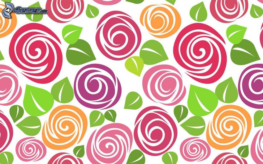 abstrakta blommor