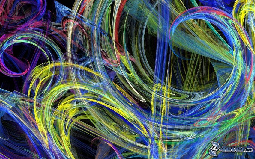 abstrakta färglinjer