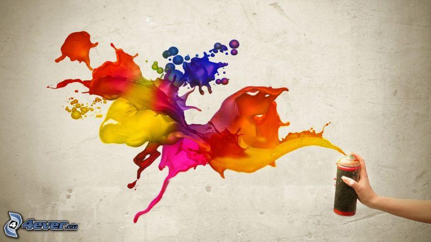 abstrakta fläckar, sprej
