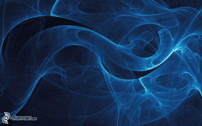 abstrakta linjer, rök