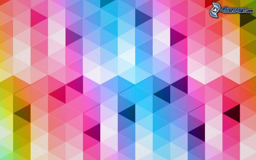 abstrakta trianglar, färger
