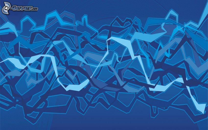 blå bakgrund, abstrakt