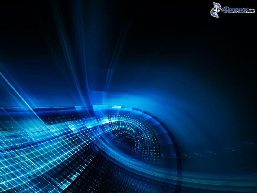 blå remsor, fyrkanter, blå bakgrund