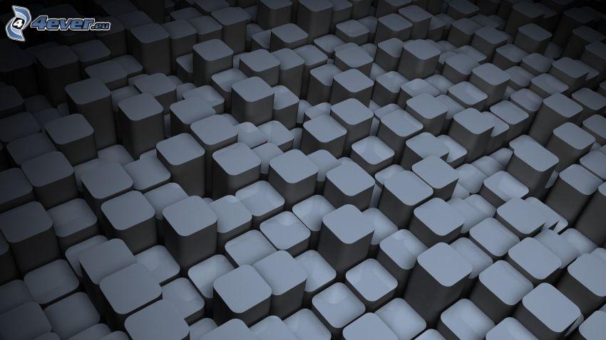 block, grå bakgrund
