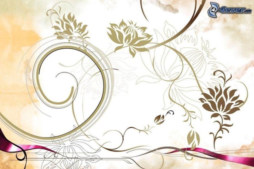 digitala blommor, linjer