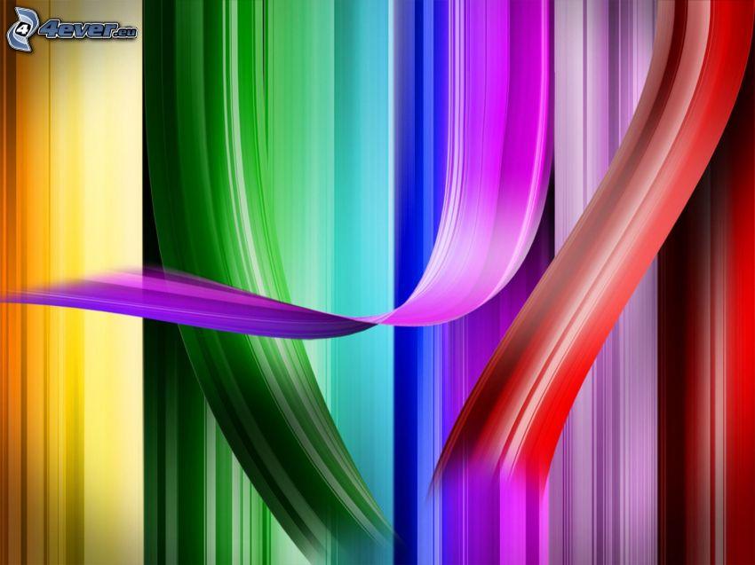 färgade remsor