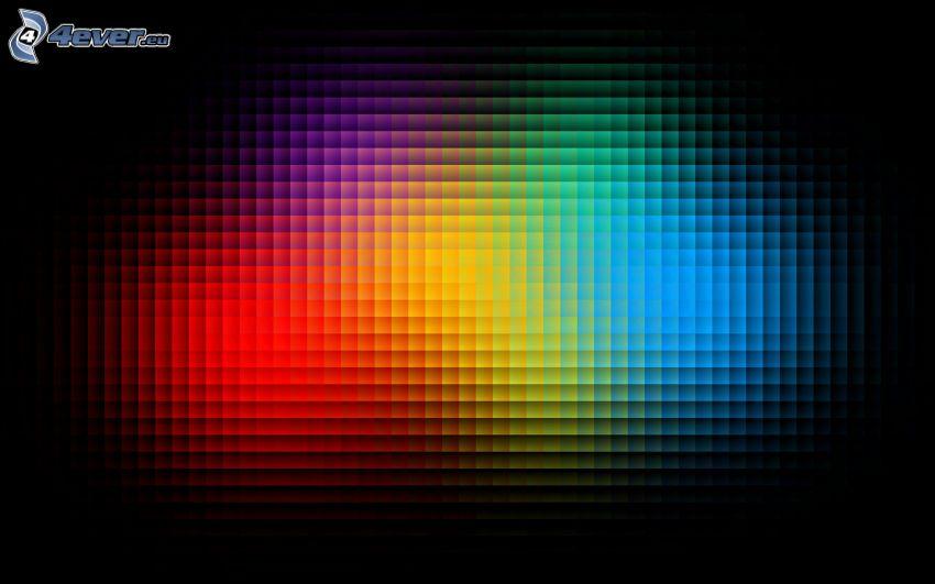 färgade tärningar, fyrkanter