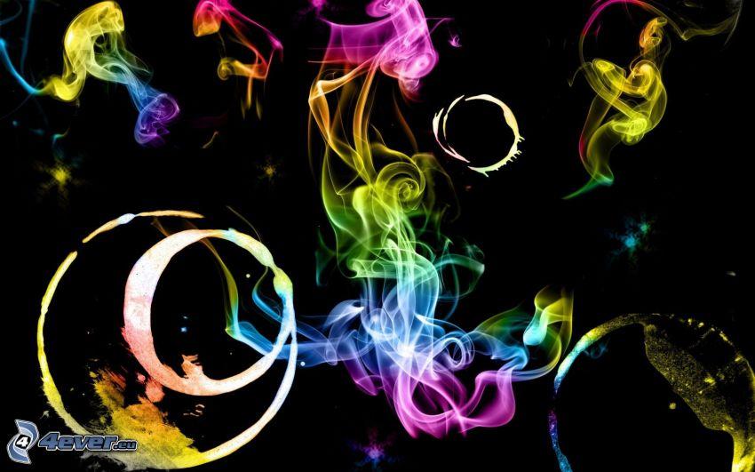 färggrann rök