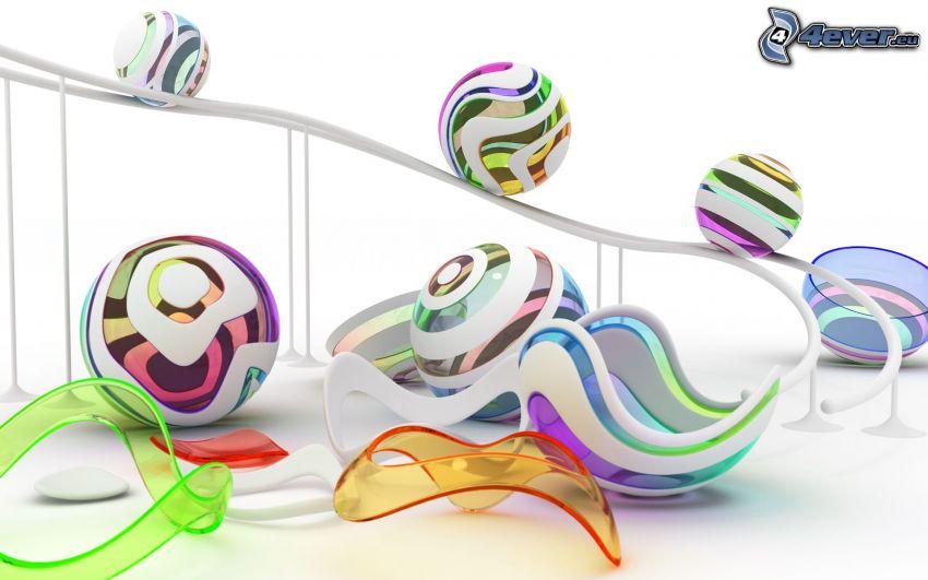 färggranna bollar