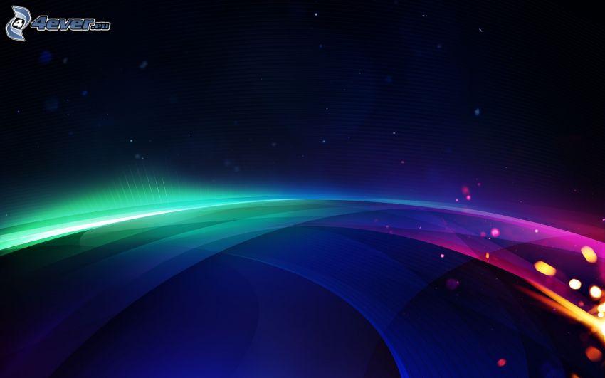 färggranna linjer, blå bakgrund