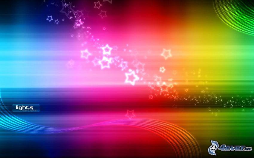 färggranna linjer, stjärnor
