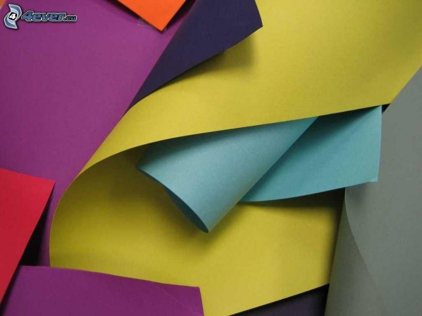 färggranna papper