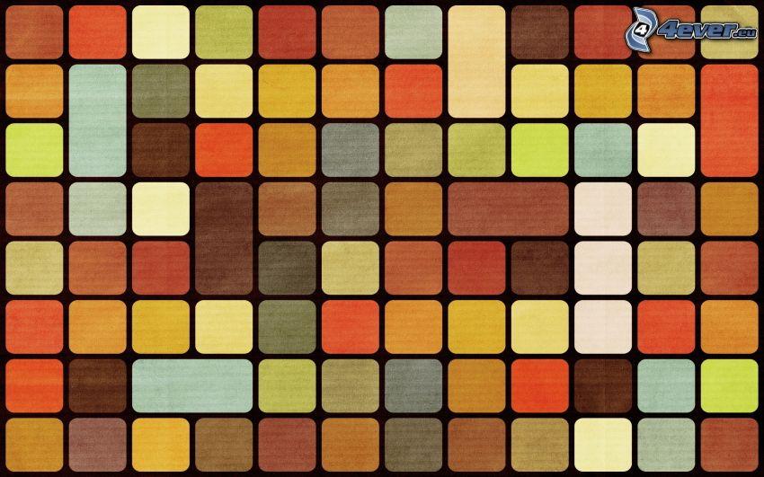 färggranna rutor