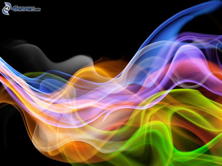 färggranna vågor