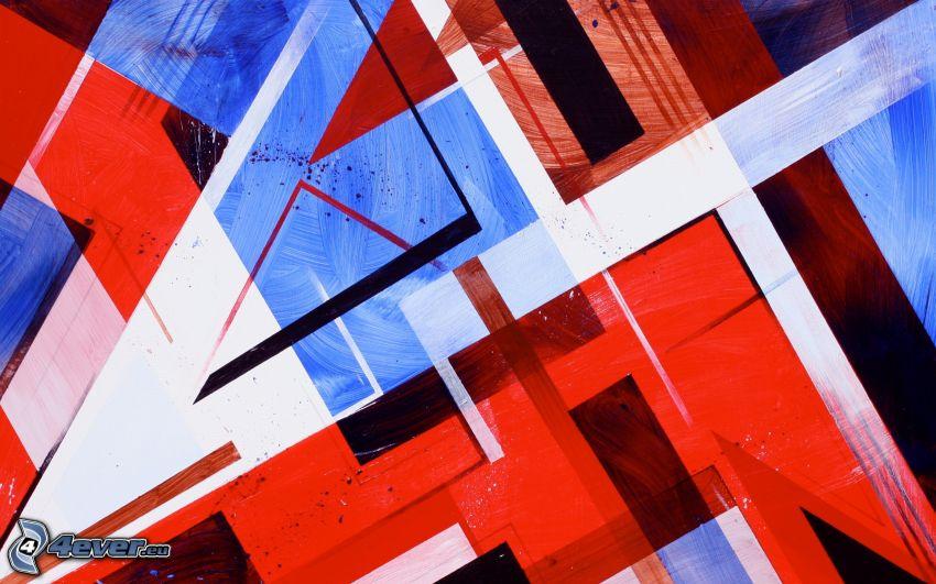 färgstark bakgrund, abstrakta former