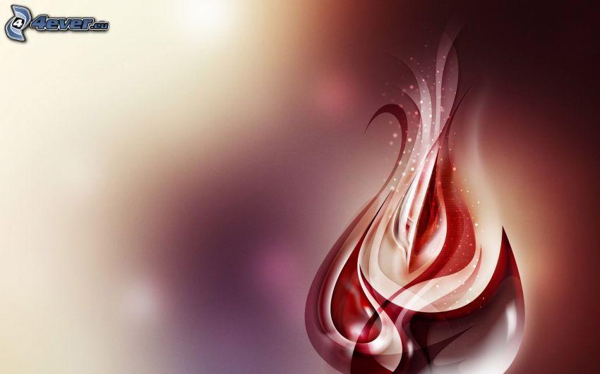 flamma, abstrakt
