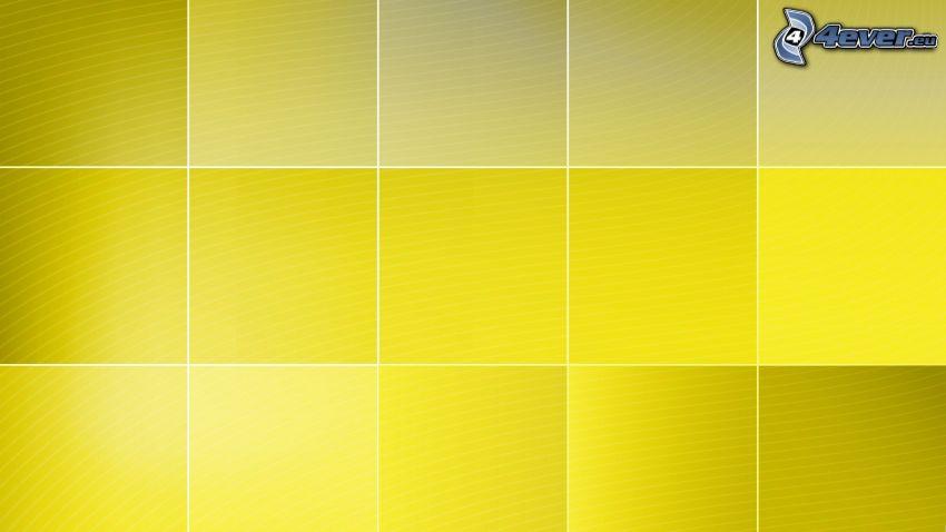 fyrkanter, gul
