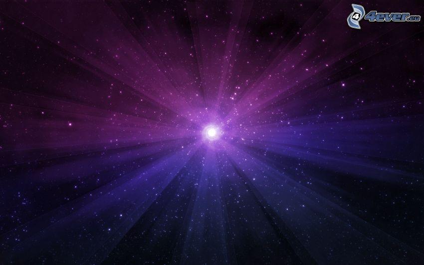 galax, stjärnor, sken