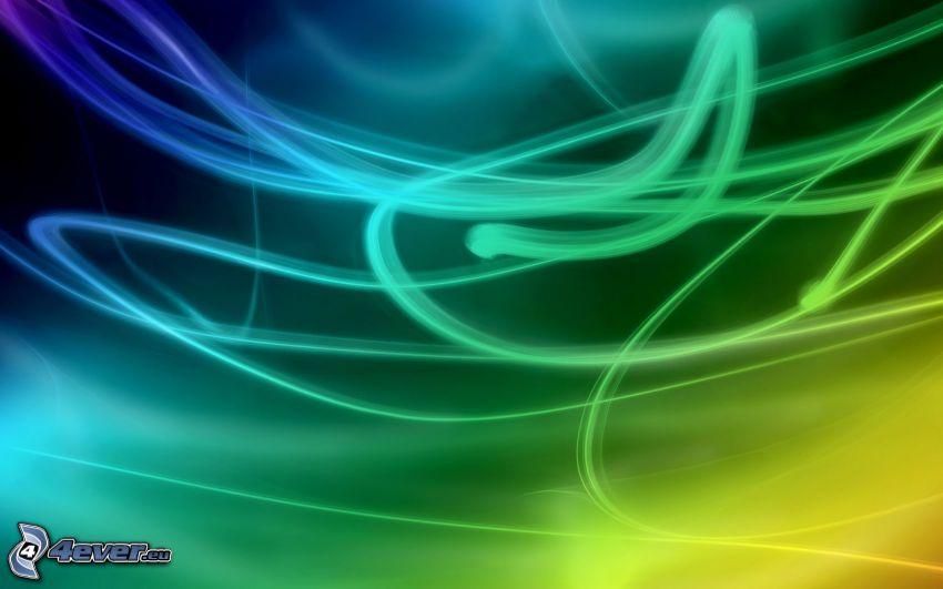linjer, regnbågsfärger