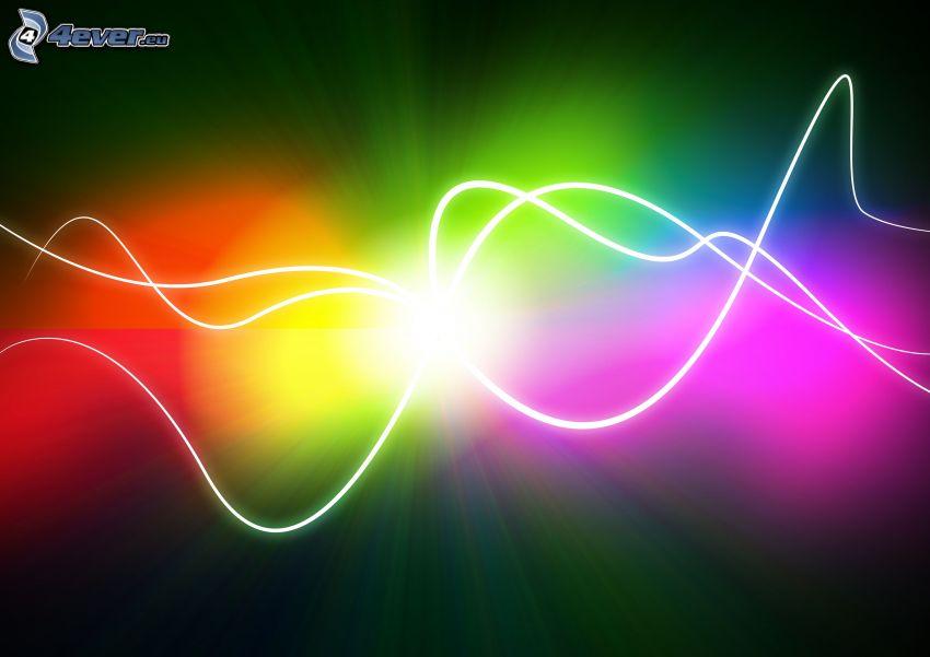 regnbågsfärgade linjer