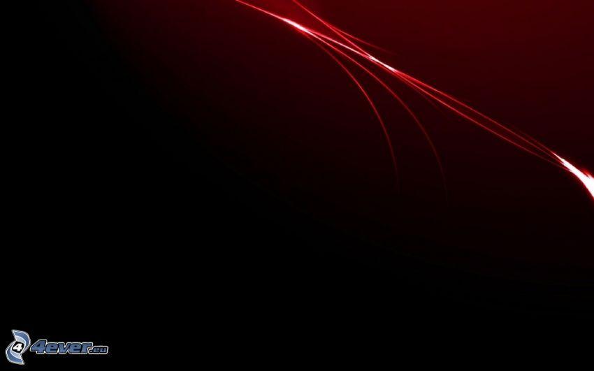 röda linjer, svart bakgrund