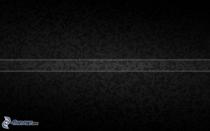 svart bakgrund, vit remsa