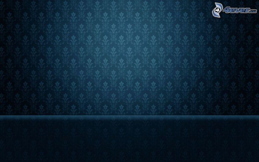 tapet, blå bakgrund