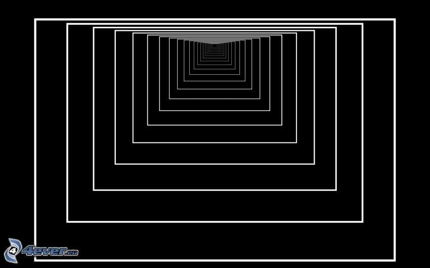 tunnel, fyrkanter