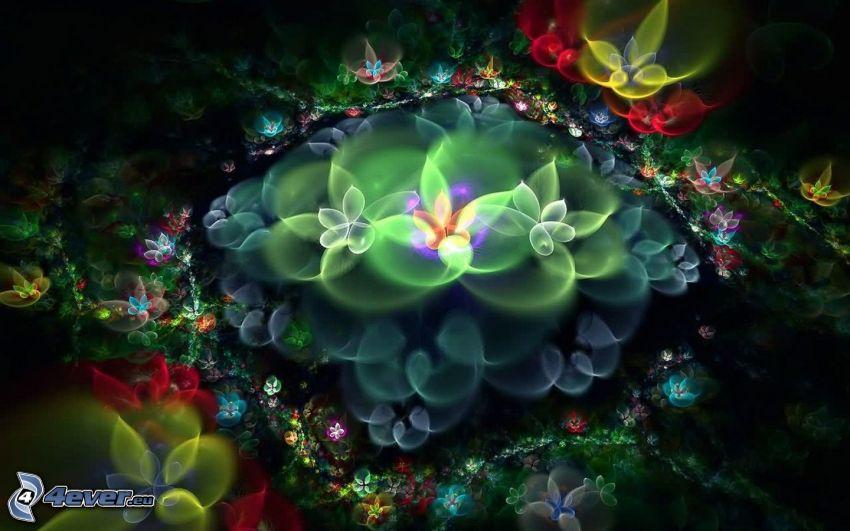 växter, digital konst
