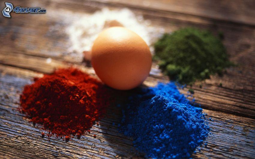 ägg, färger