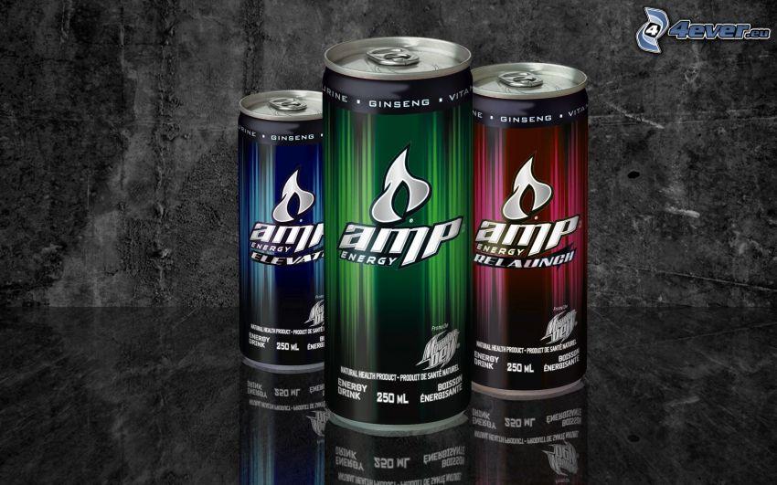 AMP energy, plåtburkar