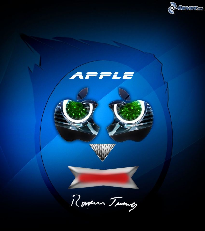 Apple man, logo, Rovder Design