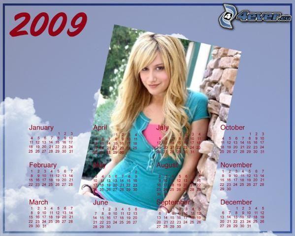 Ashley Tisdale, kalender