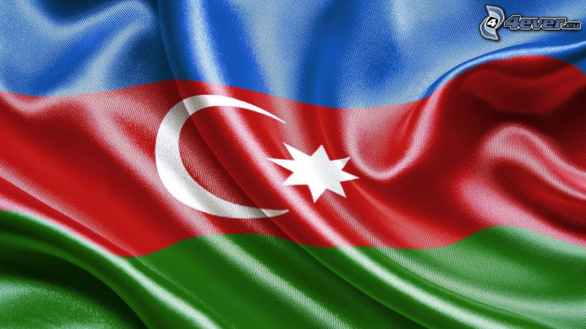 Azerbajdzjan, flagga, silke
