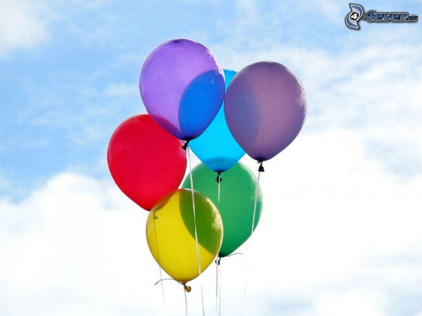 ballonger, färger