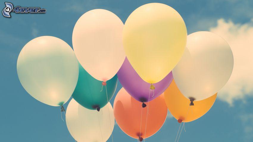 ballonger, himmel