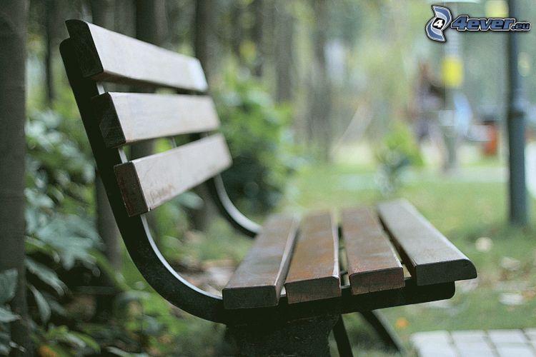 bänk i park