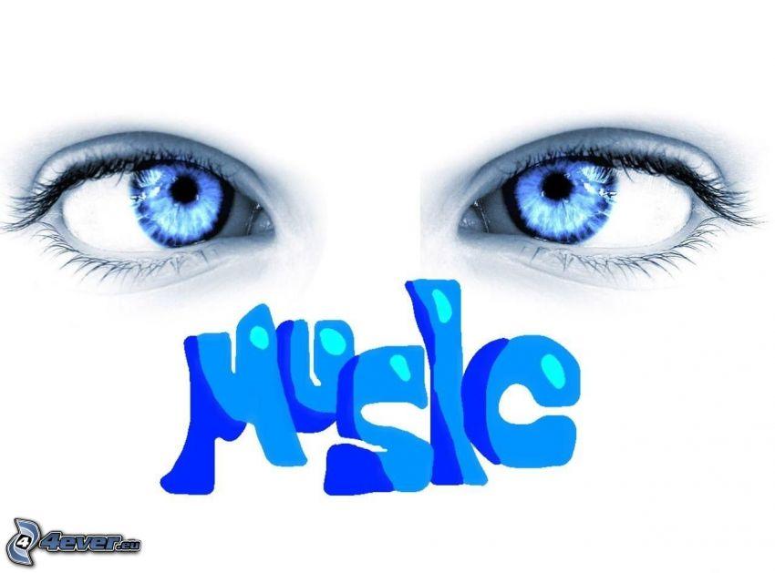 blå ögon, music